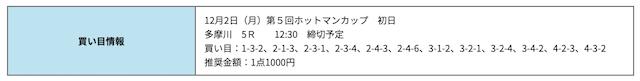 競艇研究エース無料多摩川2019年12月02日