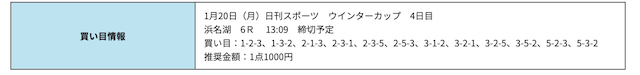 競艇研究エース無料浜名湖2020年01月20日