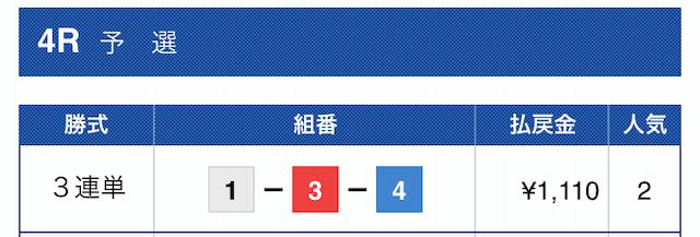 2019年10月11日福岡04R
