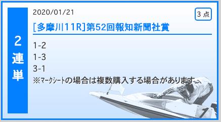 波王無料多摩川2020年01月21日