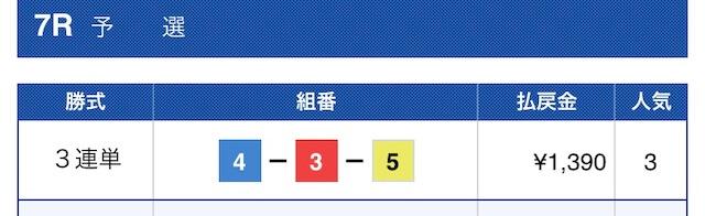 競艇ロード黒田コース1結果
