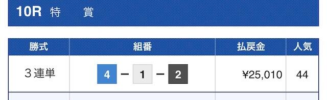 競艇ロード黒田コース3結果